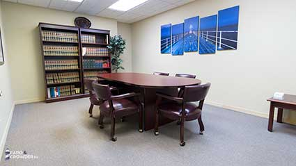 Practice Areas | Faro & Crowder, PA Conference Room Melbourne, FL